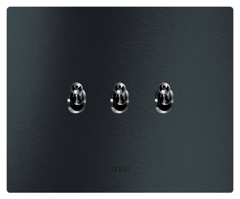 Interruttore levette alluminio antracite KNX